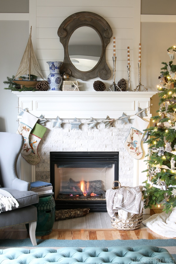 Forest and Sea Christmas - The Inspired Room House Tour 2014