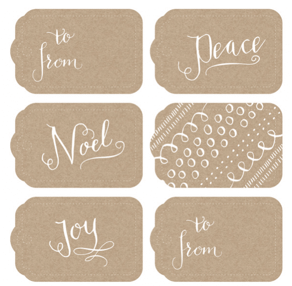 Free Printable Calligraphy Gift Tags - Muffin Grayson