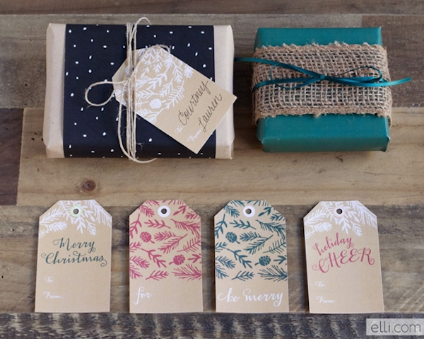 Free Printable Christmas Gift Tags - The Elli Blog