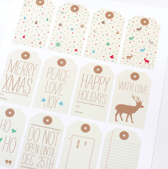 Free Printable Gift Tags - Love Vs Design