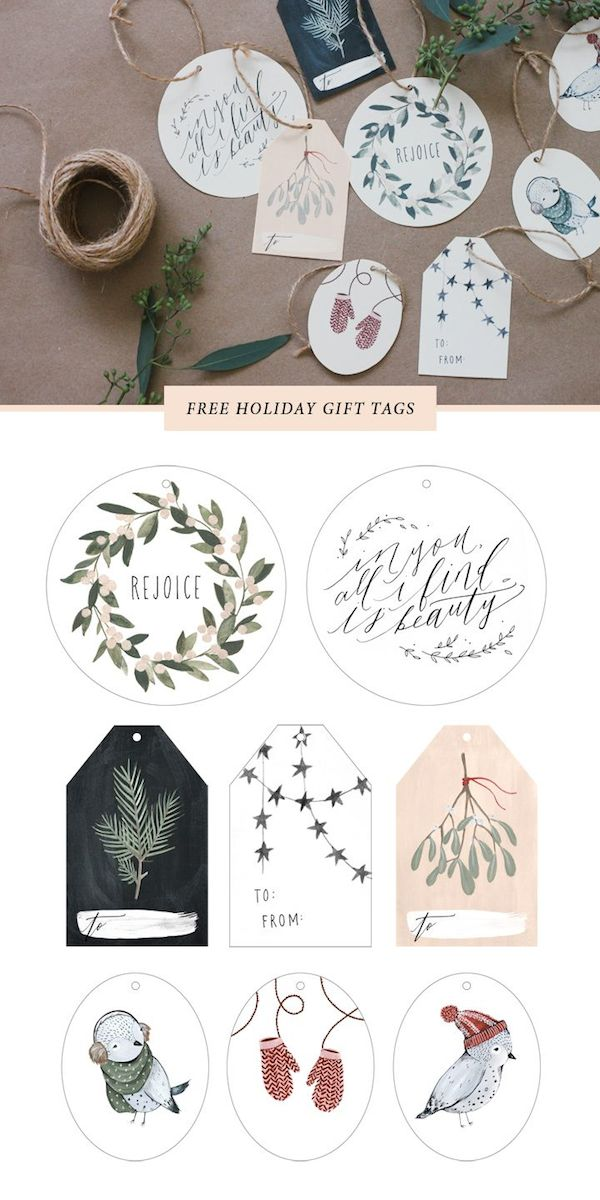 photograph about Christmas Gift Tags Free Printable named Absolutely free Printable Reward Tags - The Motivated House