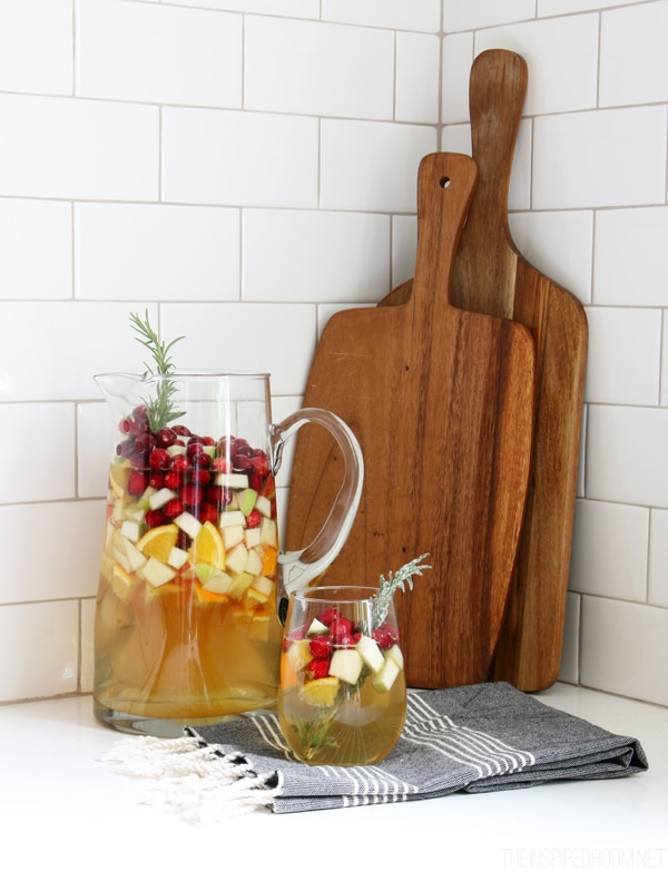 Holiday Sangria Recipe - The Inspired Room