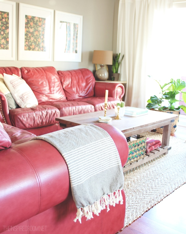 Townhouse Update {The Tale of Two Couches} - The Inspired Room