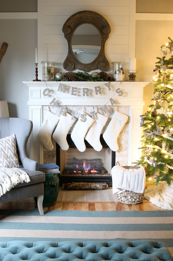 Merry Christmas Glitter Garland from Pottery Barn - The Inspired Room