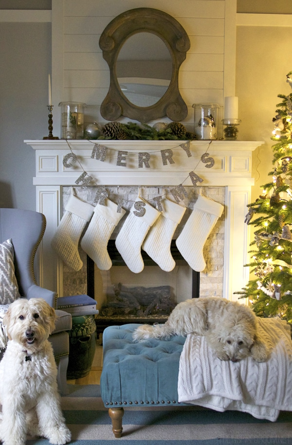 Pottery Barn Merry Christmas Glitter Garland - The Inspired Room