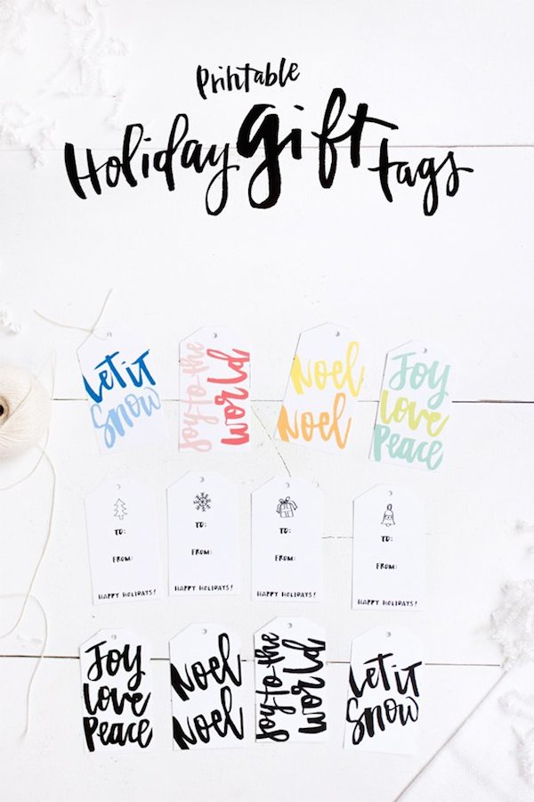 Printable Holiday Gift Tags - Verily Mag