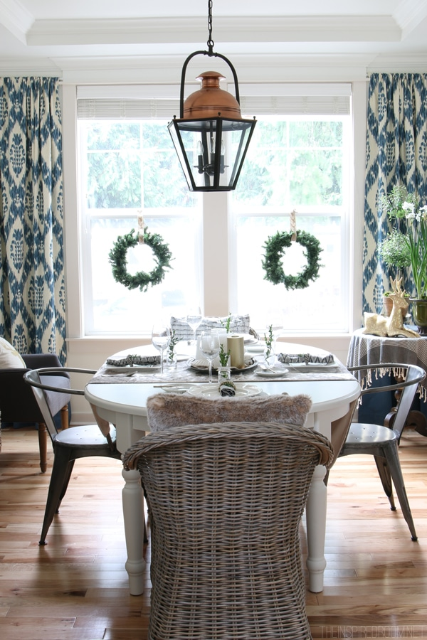 Simple Christmas Decorating - The Inspired Room Dining Room - Christmas House Tour