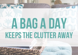A Bag a Day Keeps the Clutter Away- The Inspired Room