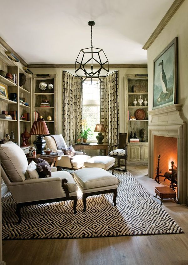 The winter house 10 layers to cozy up your home the for Den study design ideas