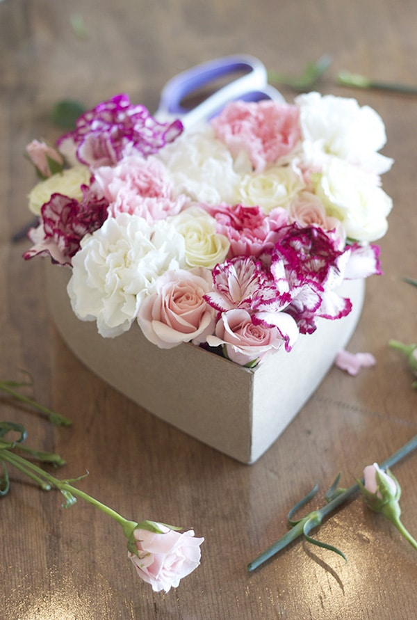 Diy Floral Heart Valentine S Day Gift Idea The
