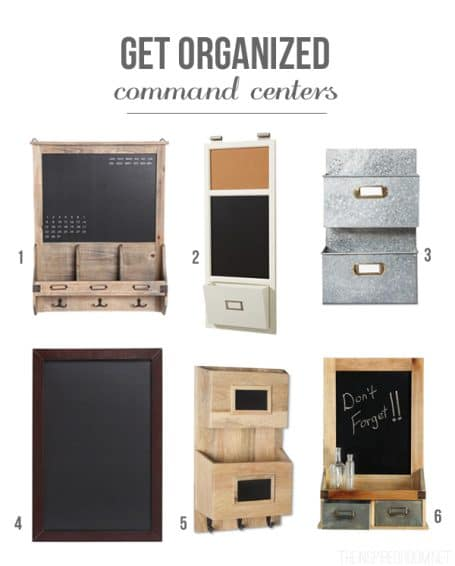 Get Organized Command Centers The Inspired Room