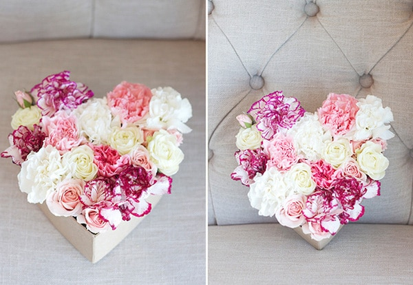 How to Make a DIY Floral Heart for Valentines Day - Michaela Noelle Designs for The Inspired Room