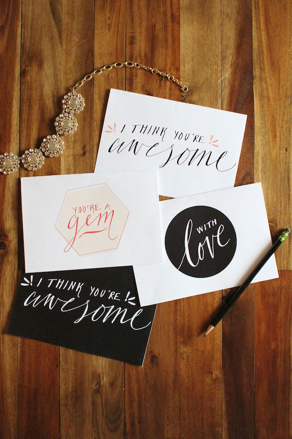 I Think You're Awesome Free Printable Cards - Valentines Day - by Thats Pretty Ace