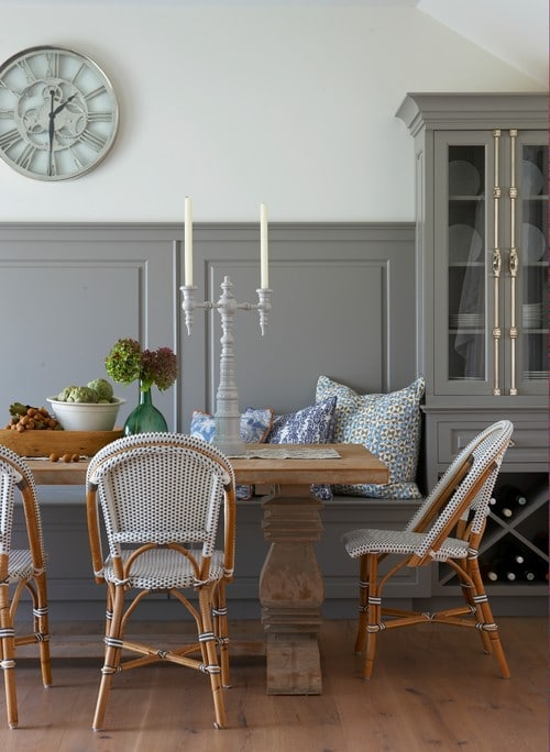 Nantucket Dining Room Banquette - Threshold interiors