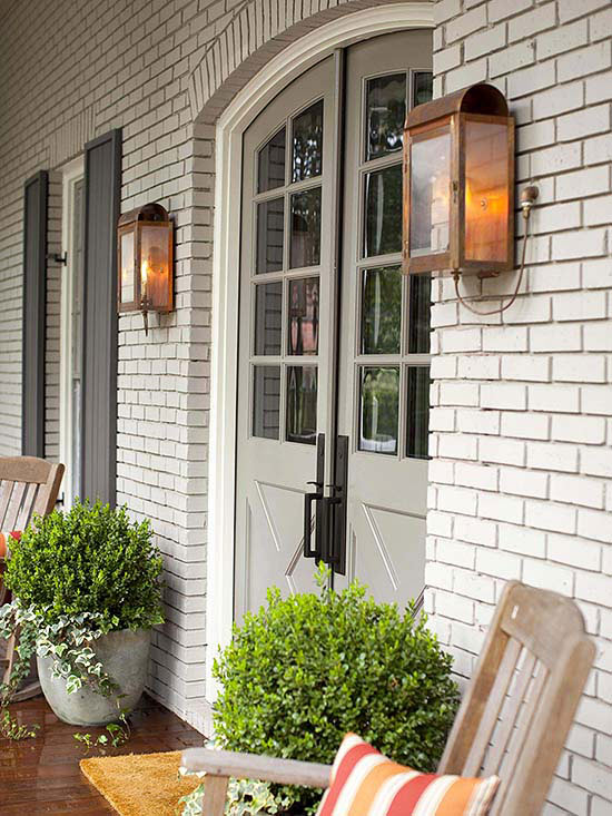 Outdoor Exterior Lighting Ideas - Copper Lanterns