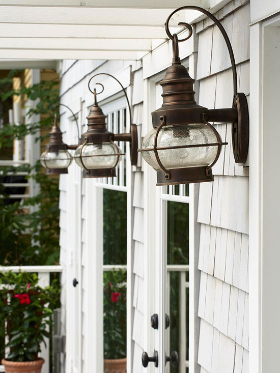 Exterior lighting charming outdoor lanterns the for Outdoor home lighting fixtures