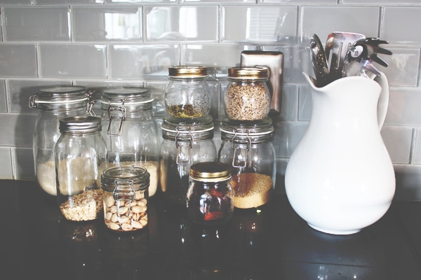 Pantry Jars in the Kitchen