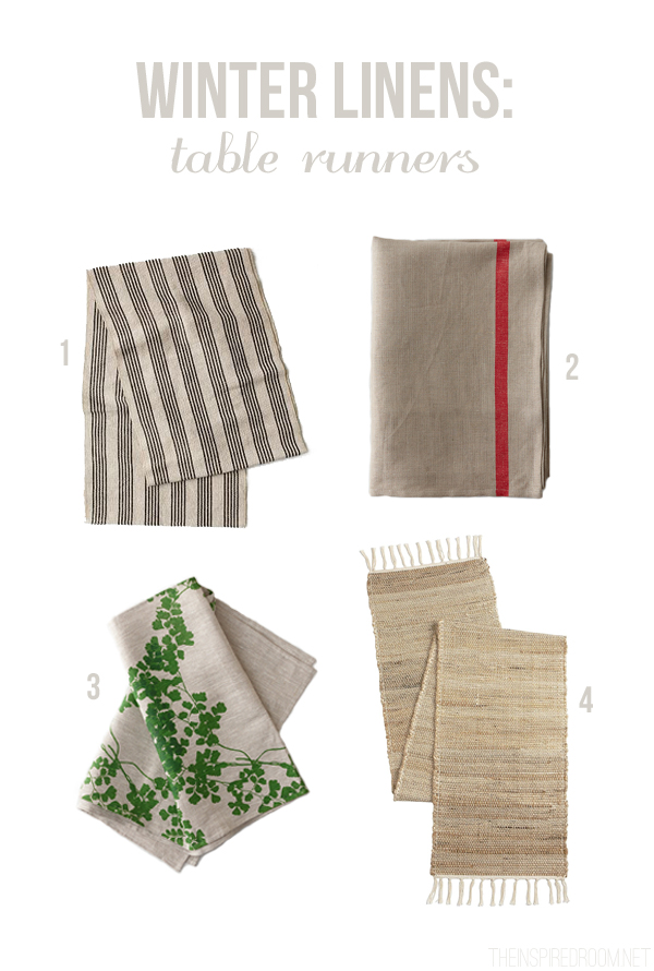 Winter Linens - Table Runners - The Inspired Room