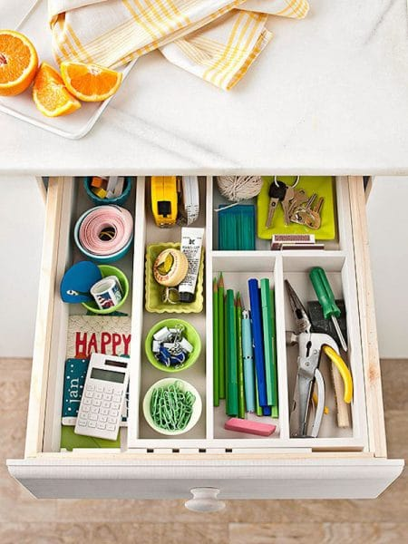 Let s get organized happy drawers the inspired room How to organize kitchen drawers