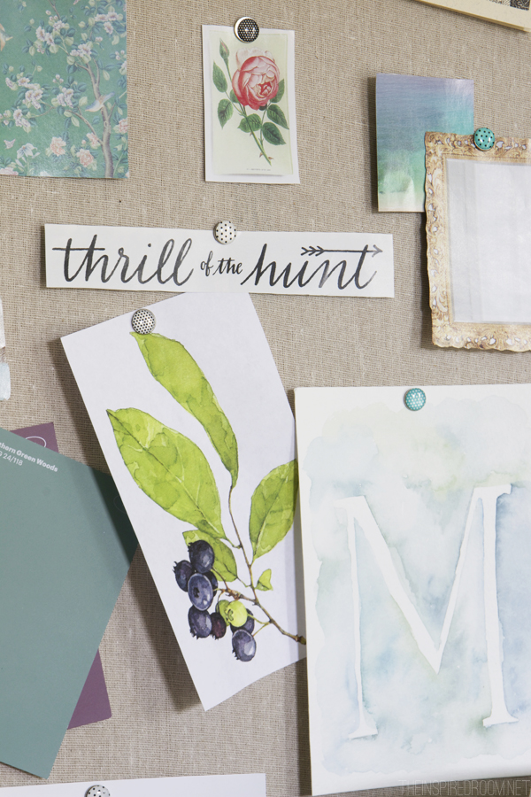 Create an Inspiration Board {Make Time & Space for You}