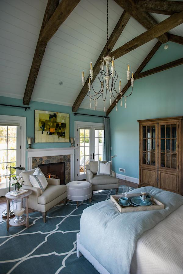 HGTV Dream Home 2015 Blue Master Bedroom - Cathedral Ceiling