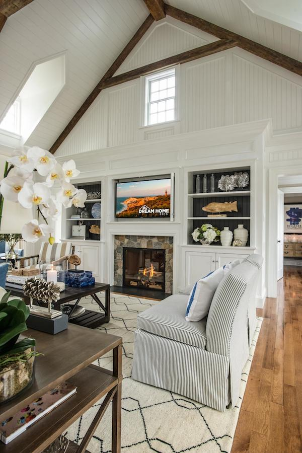HGTV Dream Home 2015 - Built in Bookcases and Fireplace in Great Room