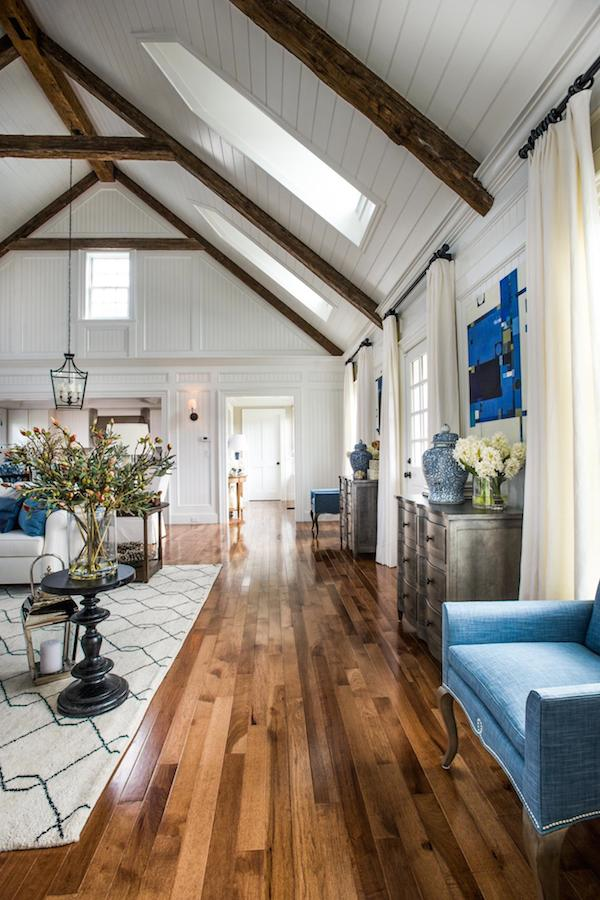 17 take away tips from hgtv 2015 dream home the inspired for Wood floor and ceiling