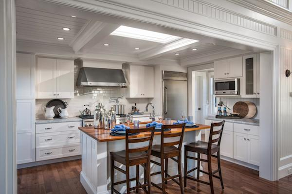 HGTV Dream Home 2015- White Kitchen Design with Wood Countertops