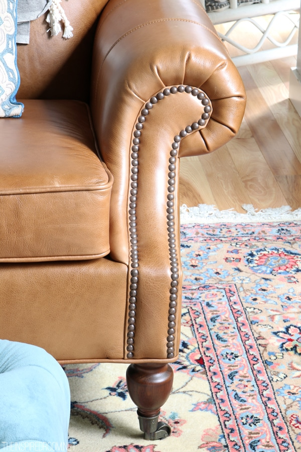 February House Fluffing {Leather, Copper & Wood}