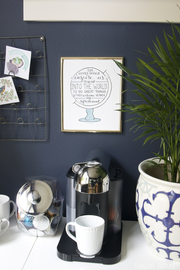 Office Coffee Station - The Inspired Room - Love the Home You Have
