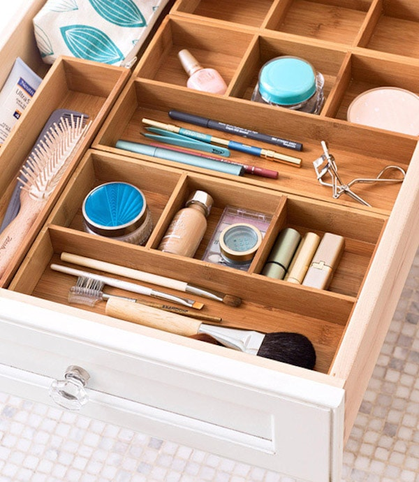Let 39 s get organized happy drawers the inspired room for Bathroom organizers