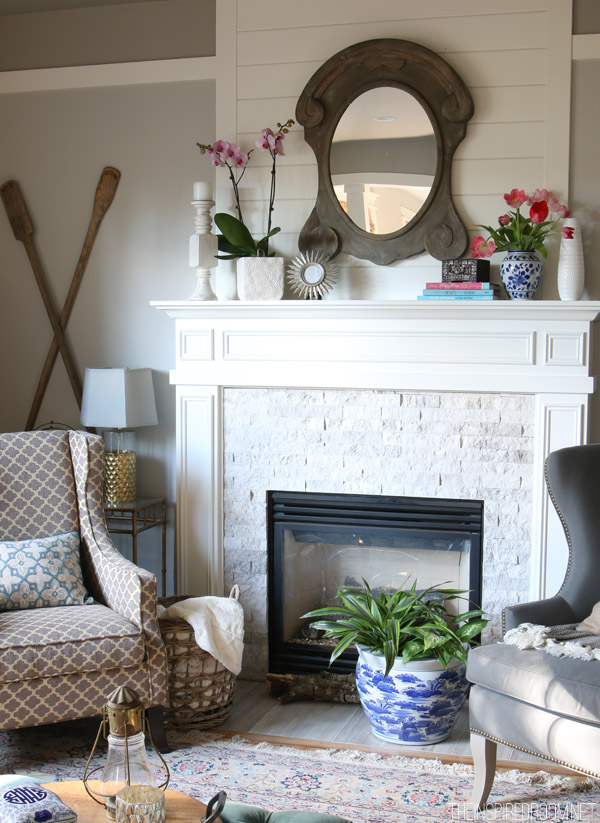 The Inspired Room - Spring Mantel