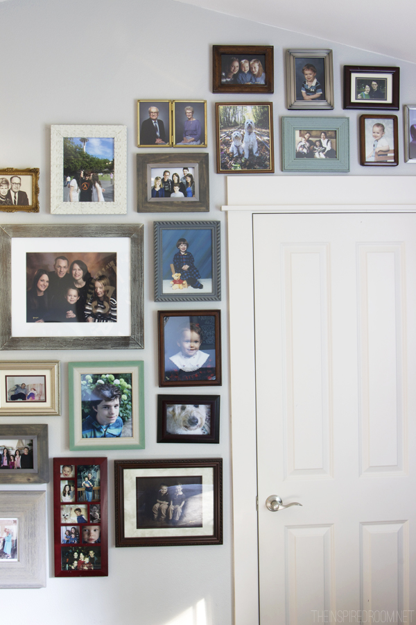 Family Gallery Wall {Media Room}