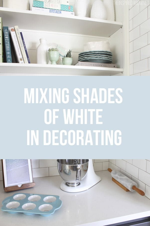 Mixing Shades of White in Decorating