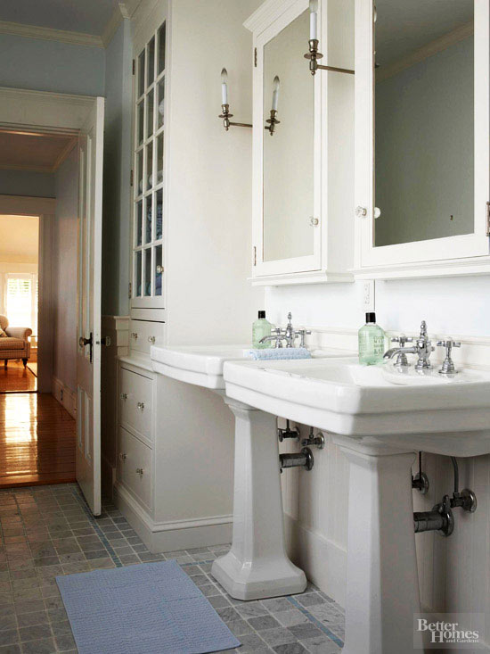 Shingled House Tour Bathroom Sinks