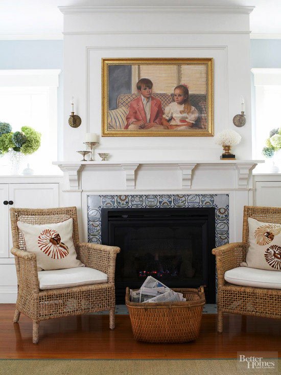 Shingled House Tour Fireplace