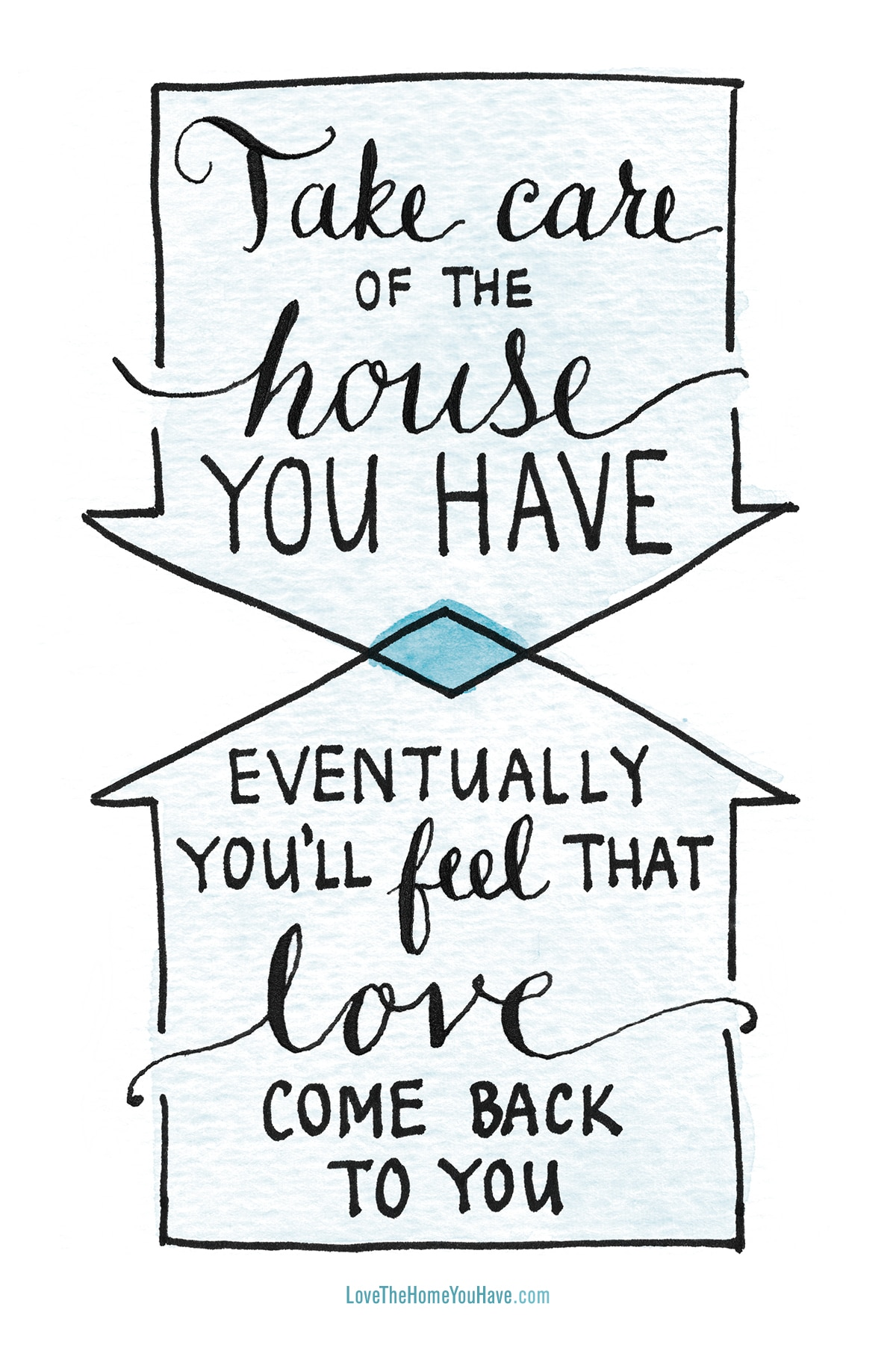 Housekeeping Quotes Love The Home You Have  The Inspired Room