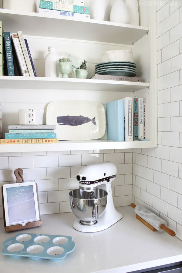 The Inspired Room Kitchen Open Shelves - Baking Station