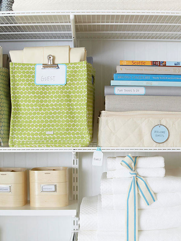 Linen Organization - A Place For Everything