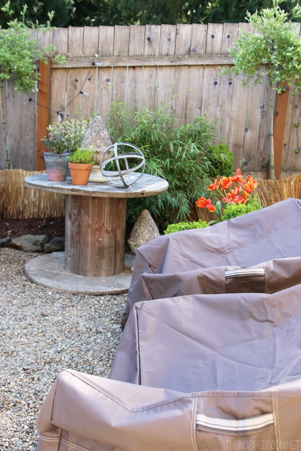 New Backyard Improvements u new patio furniture covers