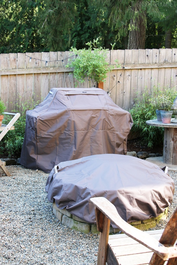 Backyard Improvements {& new patio furniture covers!)