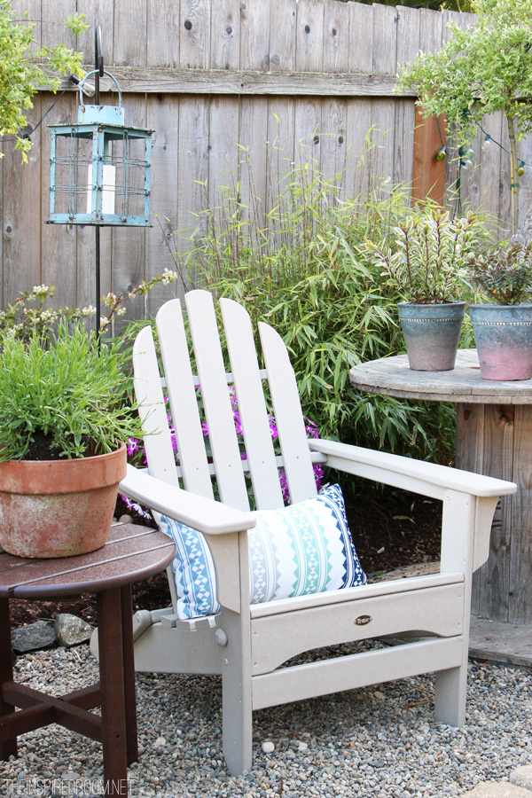 The Inspired Room Backyard - Trex Adirondack Chair