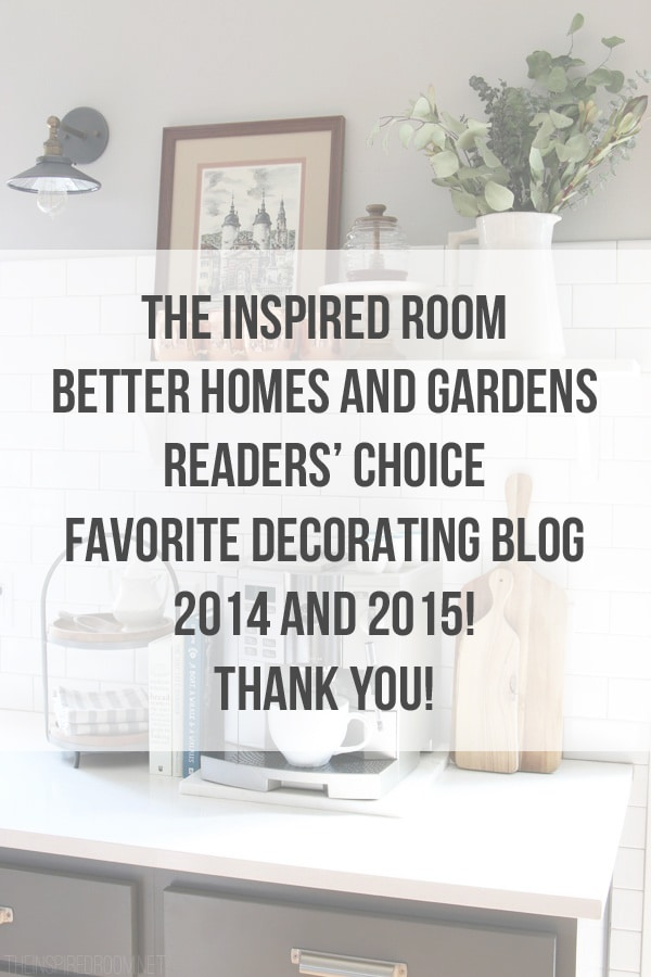 The Inspired Room - Better Homes and Gardens Readers Favorite Decorating Blog