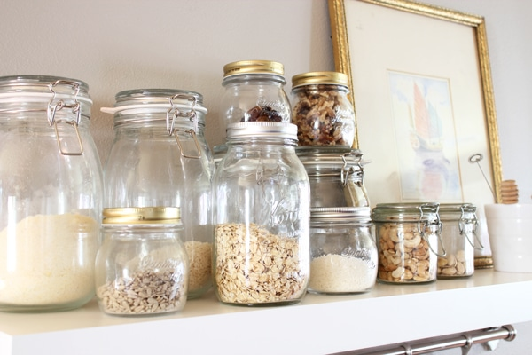 Bulk pantry items in jars