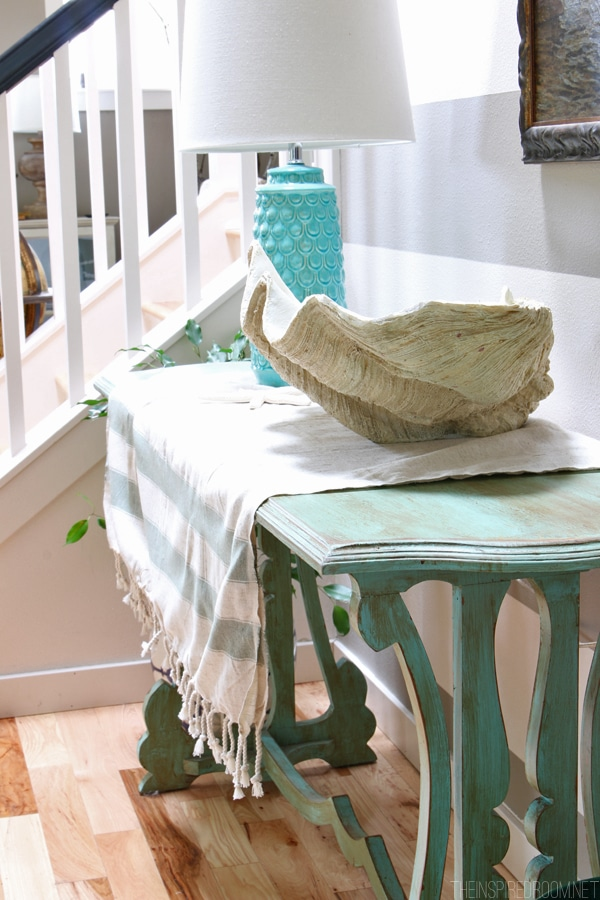Summer House Tour - The Inspired Room Entry Table