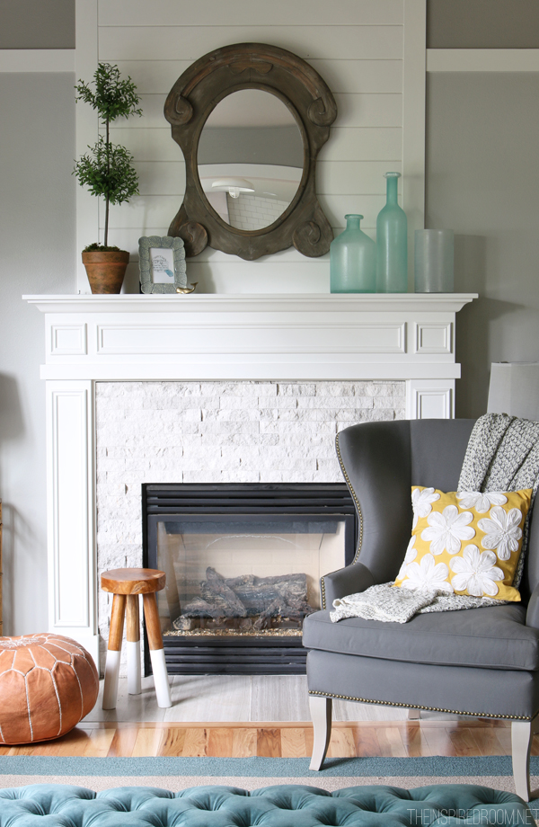 Painted Brick & Stone Fireplace Inspiration