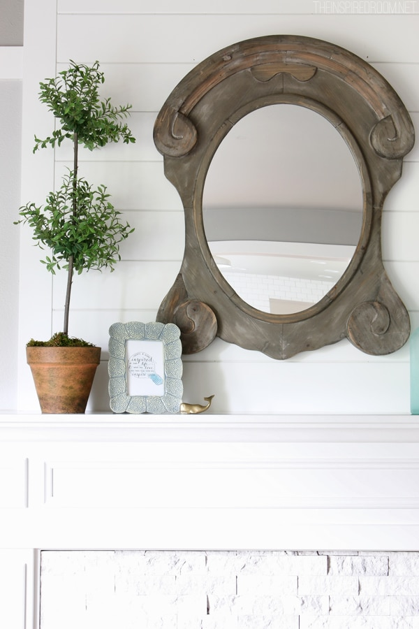 Summer House Tour - The Inspired Room Mantel