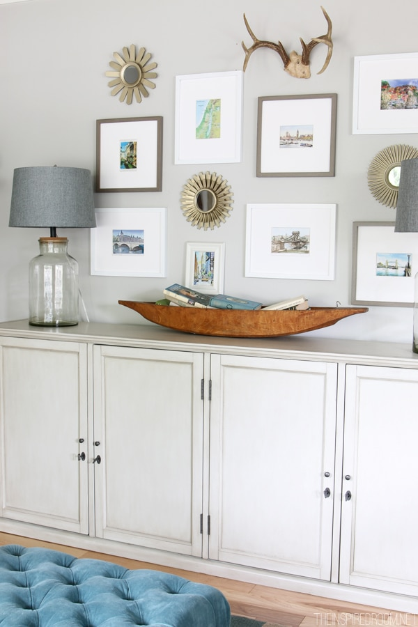 Summer House Tour - The Inspired Room blog - Gallery Wall