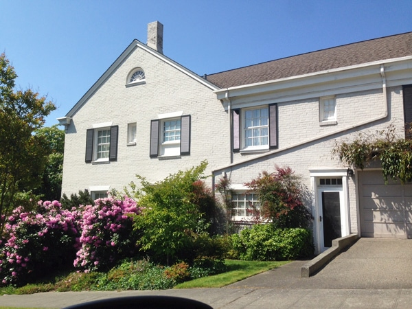 White House with Black Shutters - Seattle - The Inspired Room Drive By