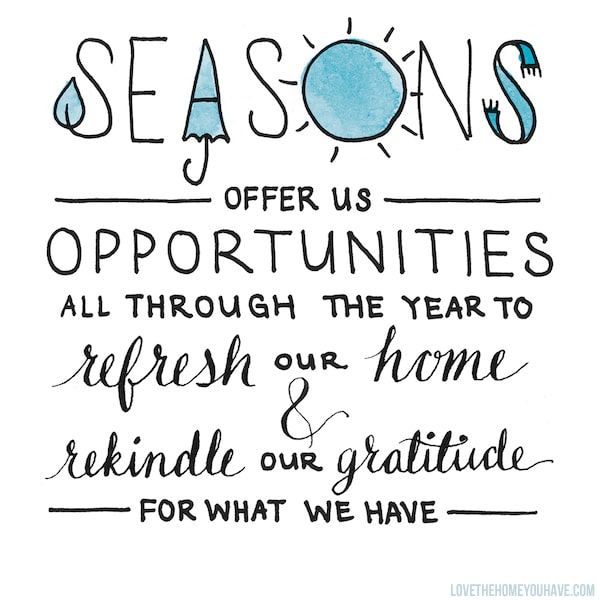 Slowing Down to Be Thankful at Home